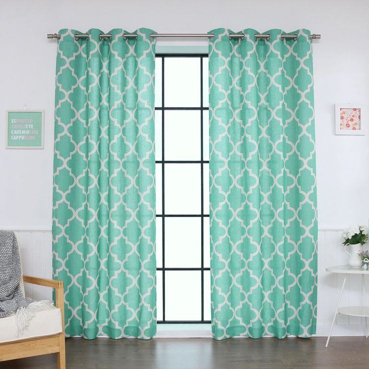 Best Home Fashion Linen Blend Moroccan Curtains