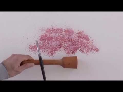 Cómo pintar un cerezo con acuarela - Como pintar un árbol - YouTube