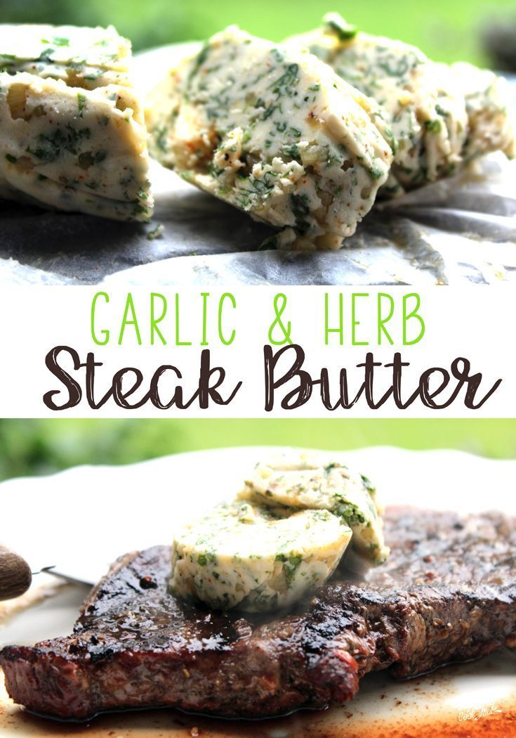 Garlic Herb Steak Butter is the perfect topping for your favorite grilled steak. Rich buttery flavor, with garlic and fresh parsley and cilantro. via @Buy This Cook That
