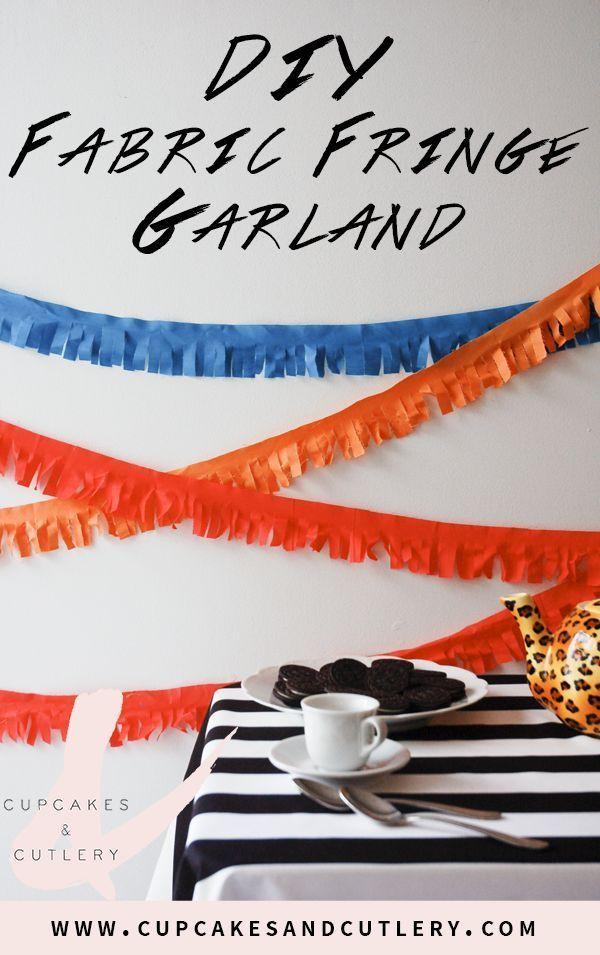 These fabric fringe garlands make great party decorations! I'll show you how to make these DIY reusable backdrop ideas to make your party look amazing!