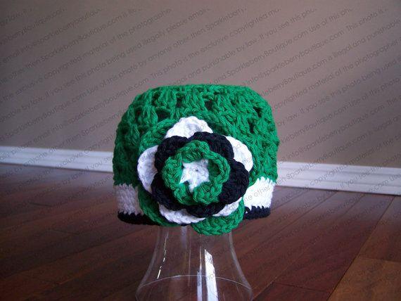 Saskatchewan Roughrider Crocheted Beanie by SparkleberryCrafts, $22.00