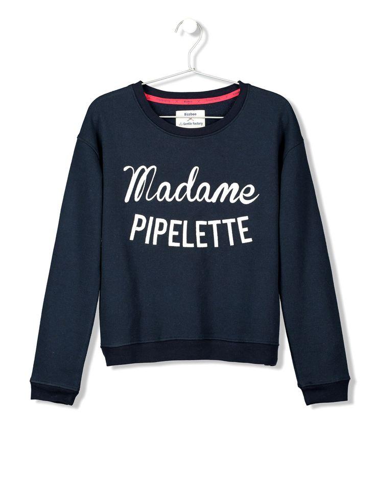 Sweat imprimé Madame Pipelette femme   Bizzbee