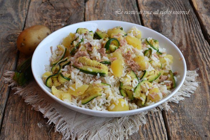 riso freddo,riso freddo con patate,riso freddo con zucchine,riso con patate e zucchine,le ricette di tina