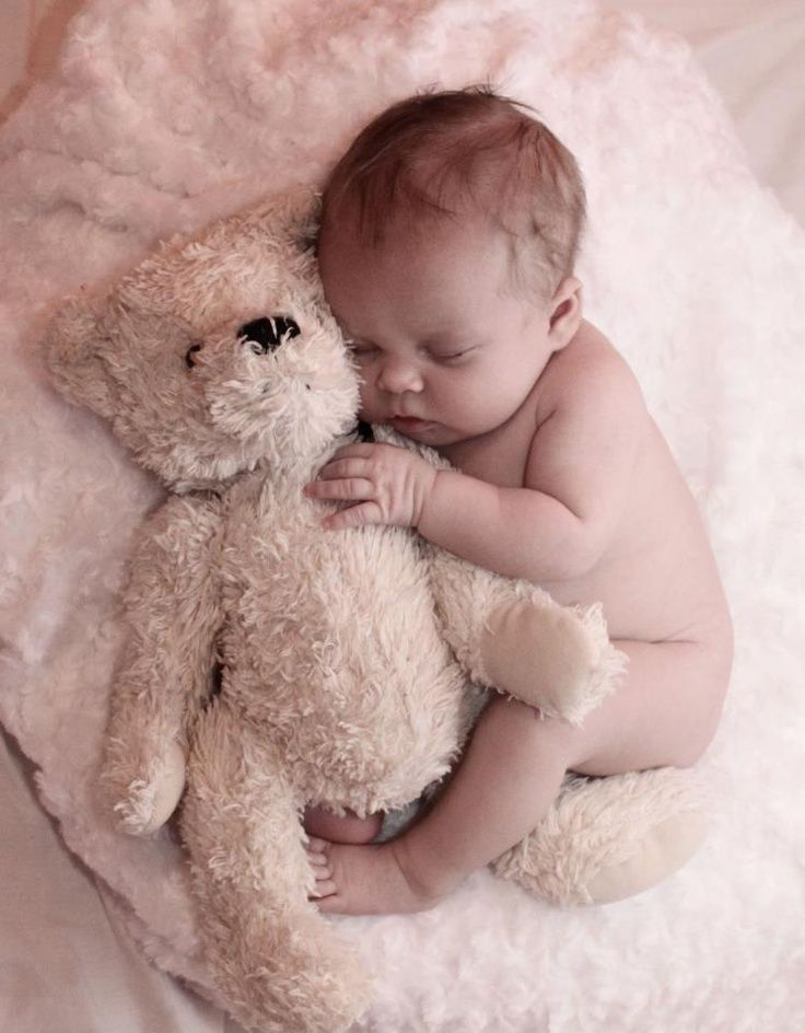 Sweet Baby Photo with Teddy Bear