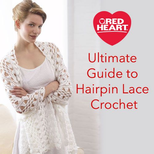 Ultimate Guide to Hairpin Lace Crochet - Hairpin lace is a beautiful variation on crochet, in which you combine a standard crochet hook with a certain type of loom to create lacy, openwork designs. Once you've seen hairpin lace, you will always immediately recognize it, because it has a very unique appearance that never fails to catch the eye.