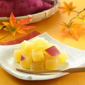 Japanese Sweets, 徳島県産の鳴門金時芋を、ほくほくとした食感の甘納糖に。【「鳴門金時」芋甘納糖 9個入】