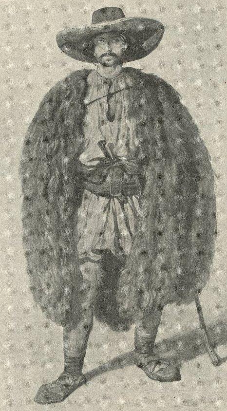 Cioban român din Transilvania (1855)