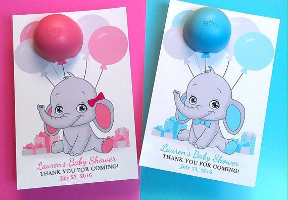 Bebé ducha favores EOS labio bálsamo favores por DianaMariaStudio