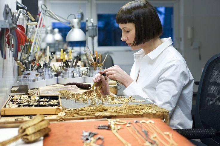 Anna Orska preparing new collection APIS in her studio in Poznań. Foto.: Aga Szenrok