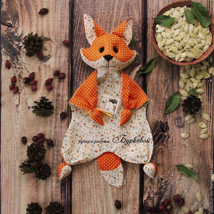 Купить Комфортер - оранжевый, комфортер куски, игрушка ручной работы, игрушка для детей, первая игрушка