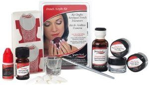 Supernail French Acrylic Kit by Supernail. $17.50. Comes with enough for 4 complete sets. Comes with everything you need. Gives you beautiful French nails. Create beautiful French nails. Fast setting with optical brightener enhancers. No blending smile line with our French tips. Enough for 4 complete sets. Comes with everything you need. Comes with enough for 4 complete sets. Gives you beautiful French nails.. Save 50% Off!