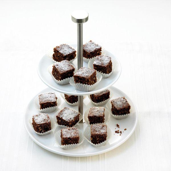 Brownies met hazelnoot, voor maar 1 ProPoint per stukje #WeightWatchers #WWrecept