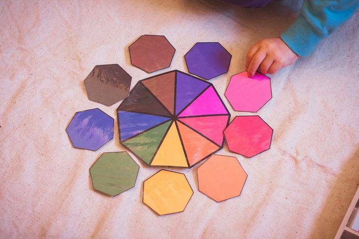 Tigriteando: Caja de color número 3 Montessori DIY