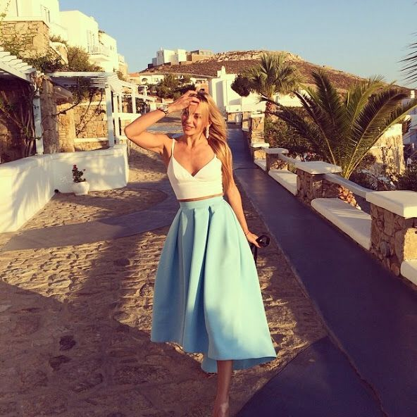 118 Best Images About Looks Skirts Blue On Pinterest