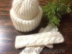 Вязание спицами шапки Такори с двойным отворотом английской резинкой