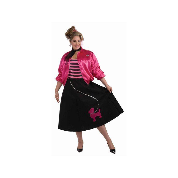Plus Size Poodle Skirt Costume Set - Adult Plus, Women's, Multicolor