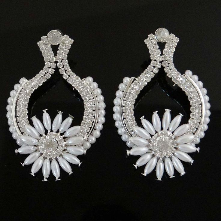 Bollywood Ethnic Dangle Pearl #Earring