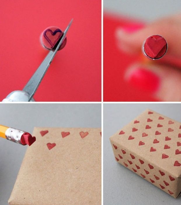 Die Radiergummis am Ende eurer Bleistifte können jede Form annehmen, die ihr möchtet