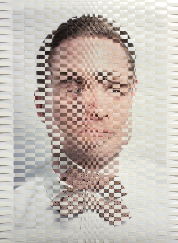 A Set Of Mesmerizing Textured Portraits That Were Weaved Together