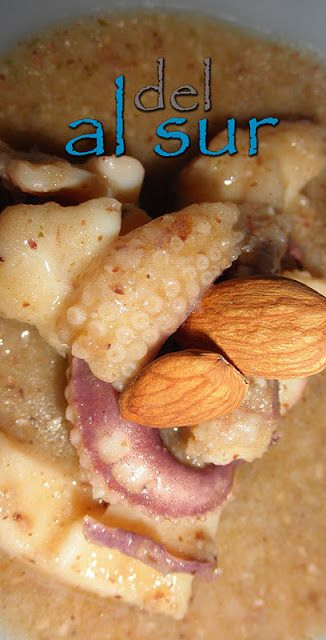 La cocina malagueña-Alsurdelsur: Jibia en salsa de alamendras