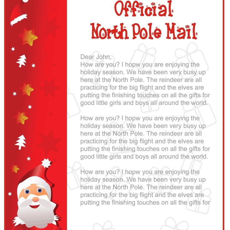 Mesmerizing image with santa claus letter template printable free