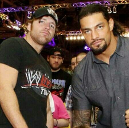 Photo of Roman Reigns & his friend actor  Dean Ambrose - Florida