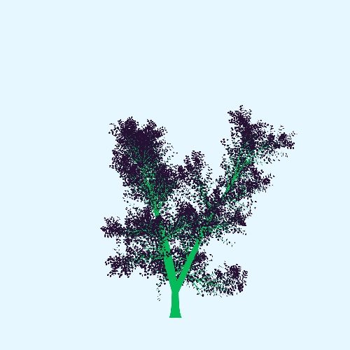 """My tree generated by """"people have the power"""" by Patti Smith, which will be plant thanks to treees.org.  You too, Just plant your very personal tree to make the planet breath (and us!): a work of green, generative and collective art"""