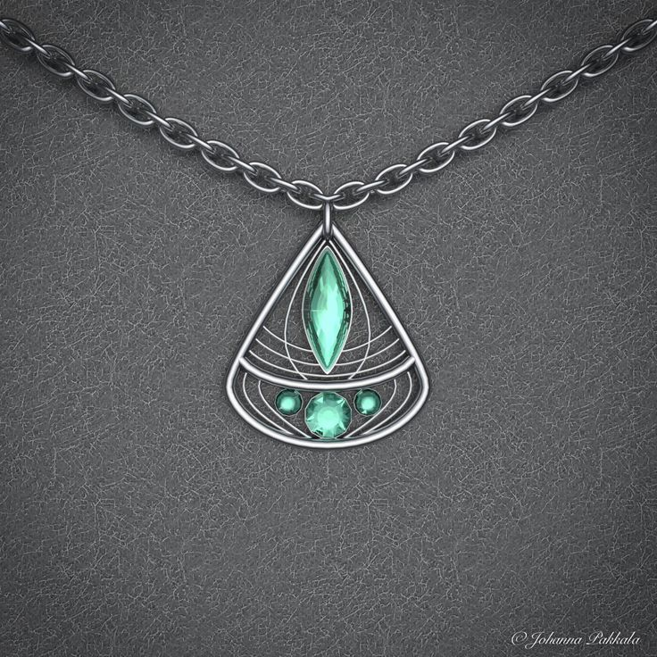 3D necklace. Made with Blender 3D. © Johanna Pakkala. – 3D jewellery, 3D modeling