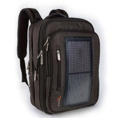Luxury Solar Powered Backpack, Gray