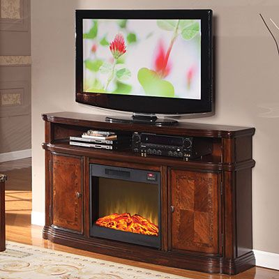 Come see our large selection of electric fireplaces at Big Lots!      4800 BTUs     Beautiful parquet top and doors with ash burl detail     Constructed of wood and wood veneers     Cherry finish     Remote control included     1 year limited warranty     Assembly required
