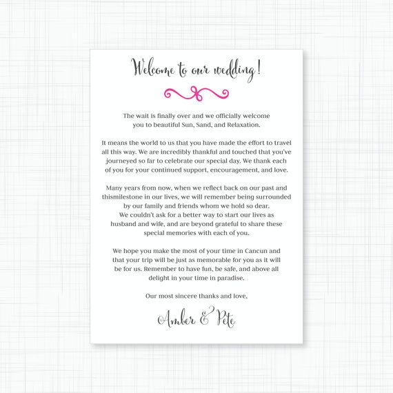 Wedding Gift Bag Letter : ... Wedding Welcome Bags on Pinterest Hotel welcome bags, Wedding and