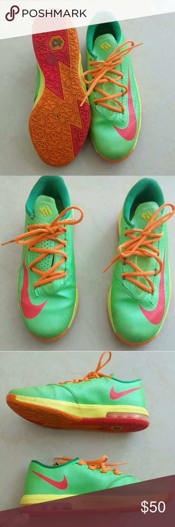 KD Nike Green Neon Sneakers Big Boy Size: 6Y (Big Boy) *USED* Great Conditions! Nike Shoes Sneakers