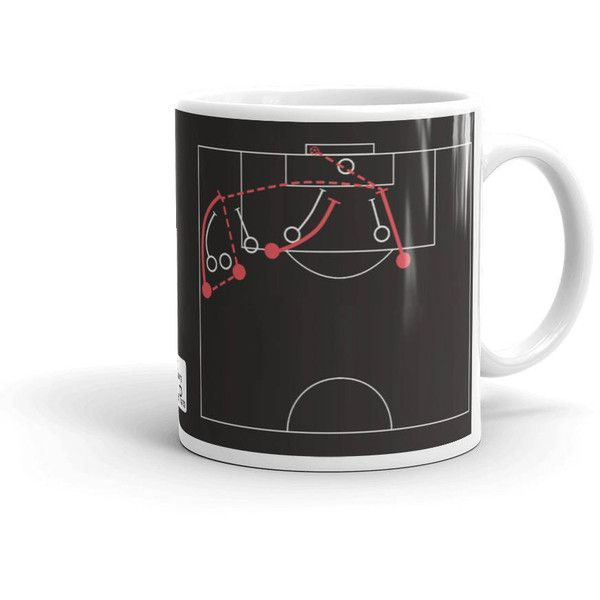 Real Madrid Soccer Mug Beating Barcelona (2011) ($15) ❤ liked on Polyvore featuring home, kitchen & dining, drinkware, drink & barware, grey, home & living, mugs and grey mugs