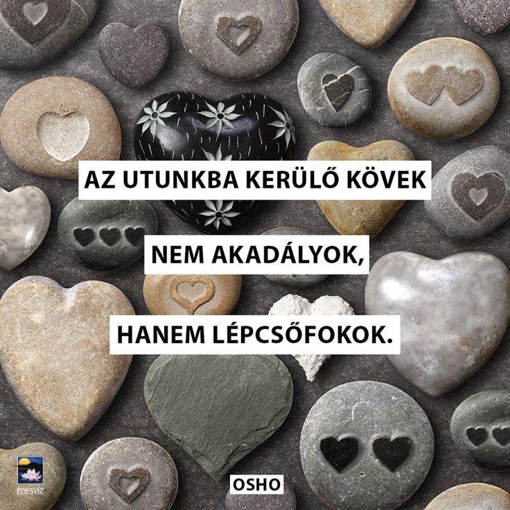 Osho idézet az akadályok kihasználásáról. A kép forrása: Édesvíz Kiadó