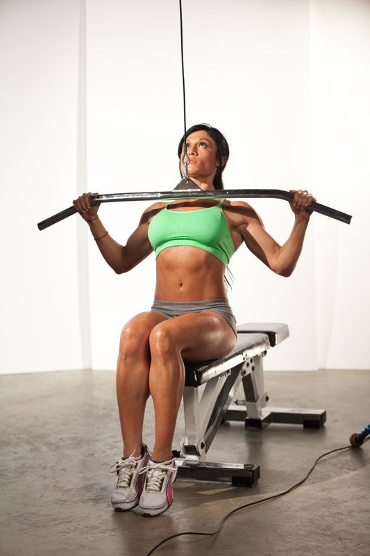 This site teaches you hoe to use those gym machines....Lat pulldowns are perfect for sculpting that sexy V-taper. #stay-fit-wit-me