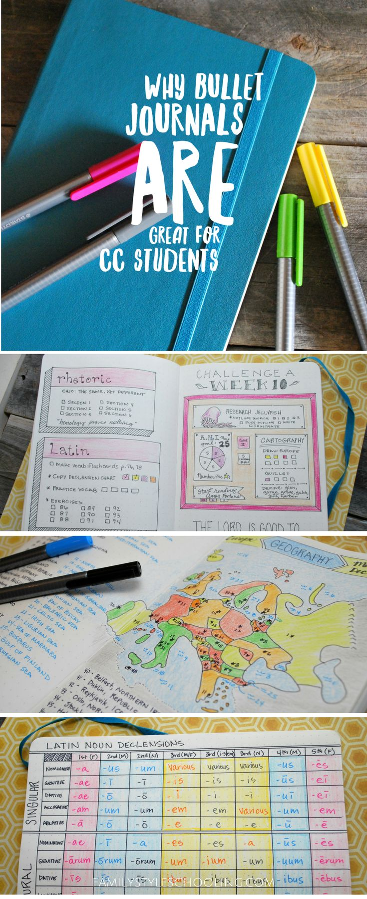 Why Bullet Journals Are Great for CC Students via @famstyleschool6