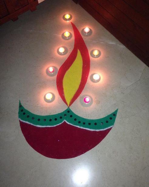 Easy Diwali Rangoli Designs