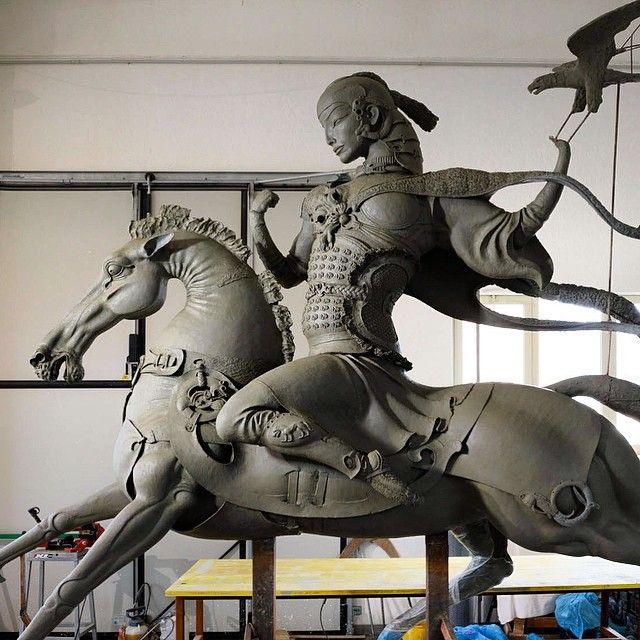 """Dashi Namdakova  """"Царская охота"""" глина / """"Royal hunting"""", clay"""