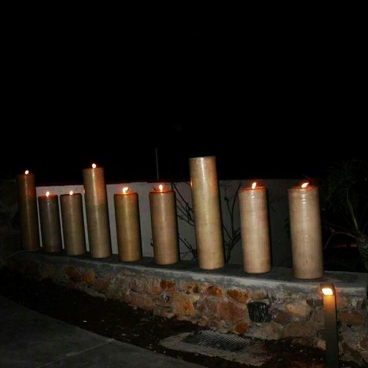 25 best renta de velas gigantes images on pinterest - Decoracion con velas ...