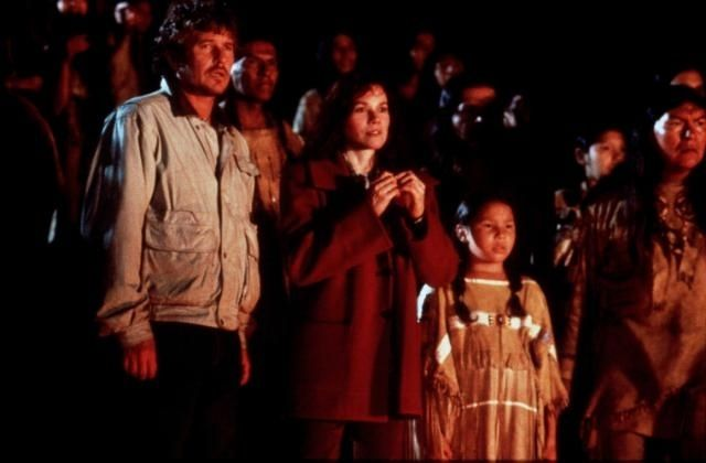 """Tom Berenger and Barbara Hershey in a scene from """"The Last of the Dogmen"""""""