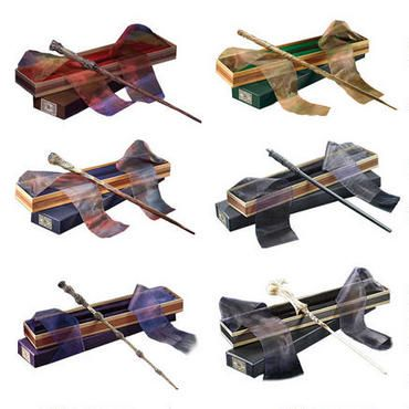 Harry Potter Wizarding Wand Collection Set of 6 (Harry, Ron, Hermione, Dumbledore, Snape, Voldemort)...god, i'm as nerdy as my husband.  :-)
