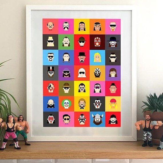 Wwe Wwf 35 Classic Wrestling Character Print Wwe Art Wwe Gift Wwe Wwf Big Boss Man