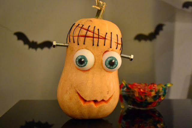 La chica de la casa de caramelo: Calabaza Frankenstein para Halloween