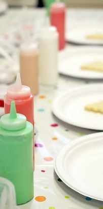 And if you're hosting a cookie party with kids, put icing in condiment bottles to make sharing easier. | 26 Party Hacks For The Holidays