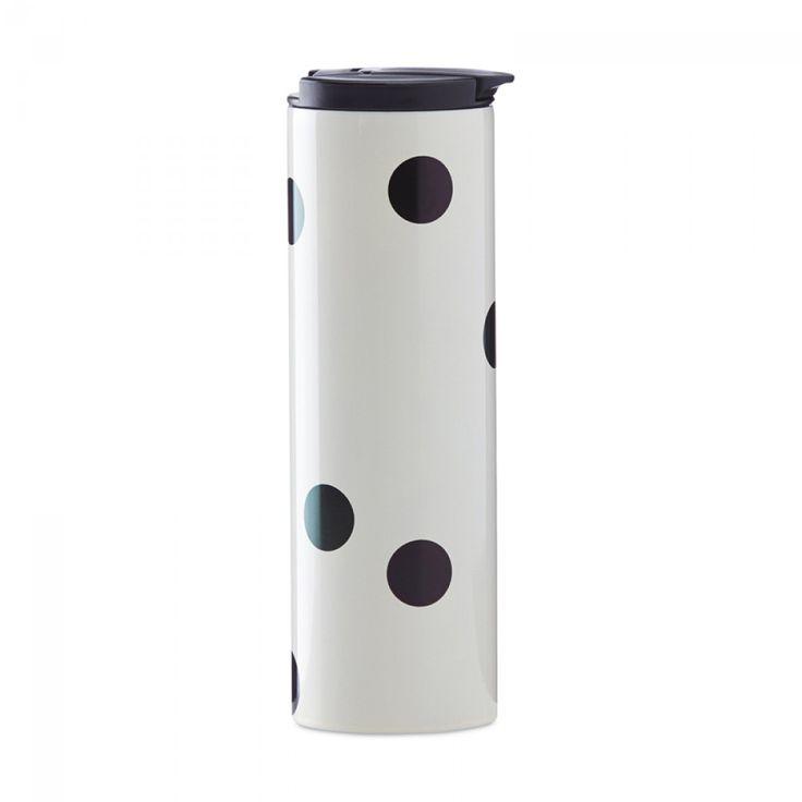 Kate Spade New York® Deco Dot Stainless Steel Tumbler | ECS Coffee Inc.  - Canada's Single Serve Coffee, Keurig® K-Cup®, Tassimo®, Nespresso®, & Kitchen Store