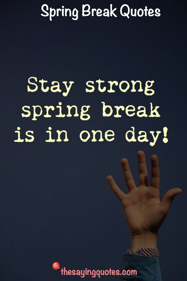 60 Spring Break Saying And Spring Break Quotes The Saying Quotes Spring Break Quotes Broken Quotes Quotes For Students