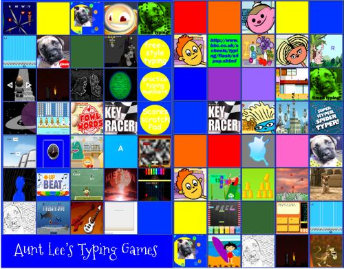 Interested in a motherload of typing games? Then head over to Aunt Lee's Typing Game Collection. #edtech Some of these I have never seen before. Games are divided in two categories: letters (easier) and words (harder). Lots of fun games to provide...