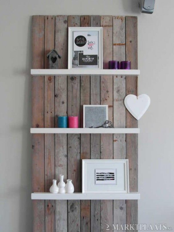 Steigerhout en witte planken toilet mooi maken pinterest - Board deco kamer ...