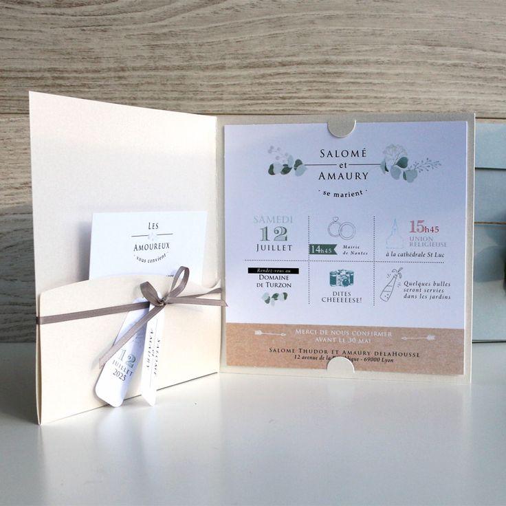 top wedding invitations016%0A Faire part mariage pochette annon  ant avec   l  gance et finesse votre union   ref N
