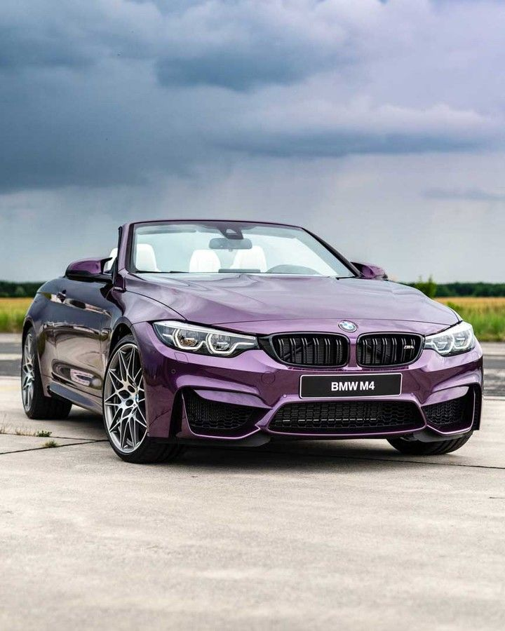 Bmw F83 M4 Cabrio In Bmw Individual Purple Silk Metallic Bmw M4